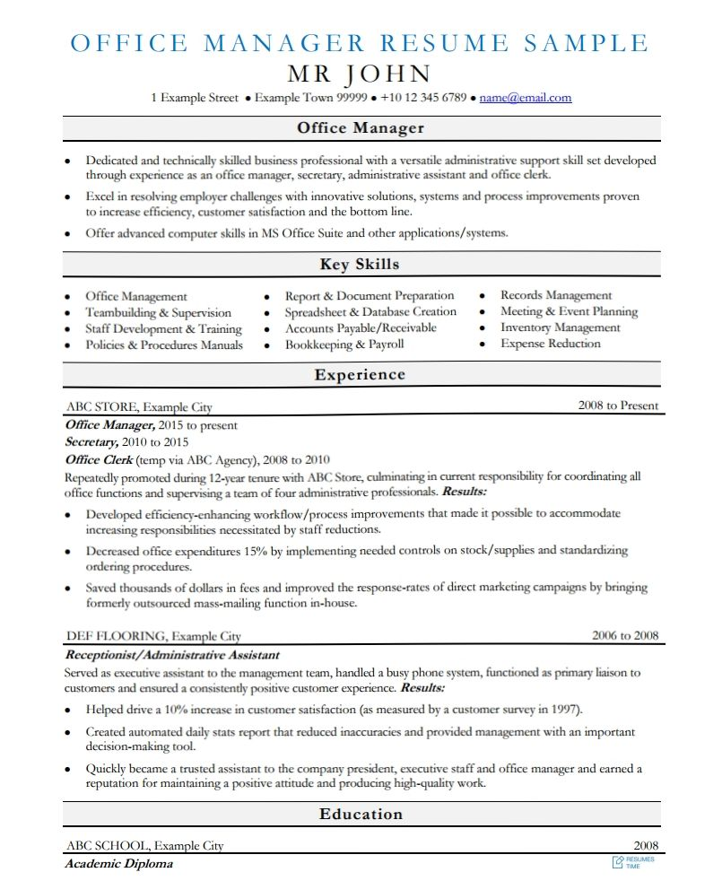 100 Free Resume Samples Examples At ResumesTime