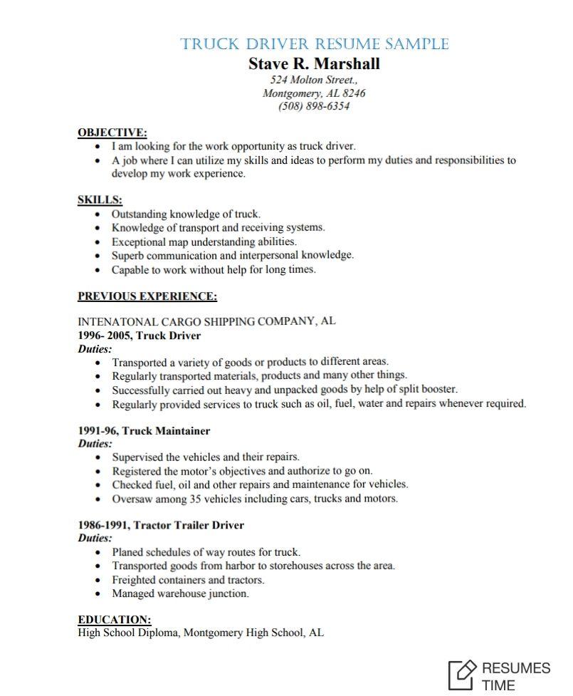 Sample Job Resumes Examples: 100+ Free Resume Samples & Examples At ResumesTime