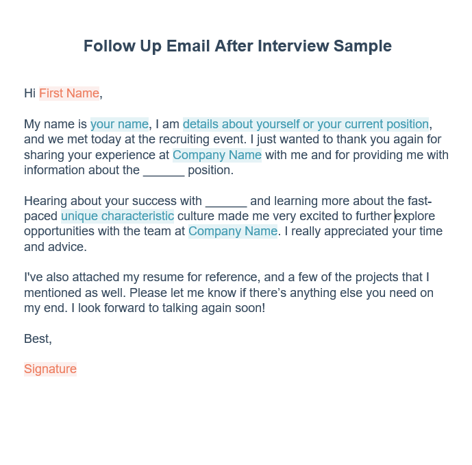 follow-up-email-after-interview-sample Sample Follow Up Letter For Job Application Status on