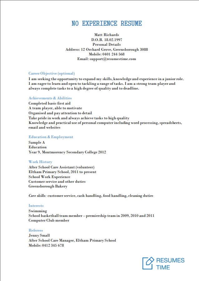 entry level resume samples  examples  template to find the