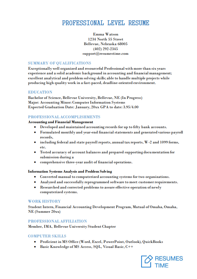 Mid Level Resume Samples And Template How To Find A Job You Love