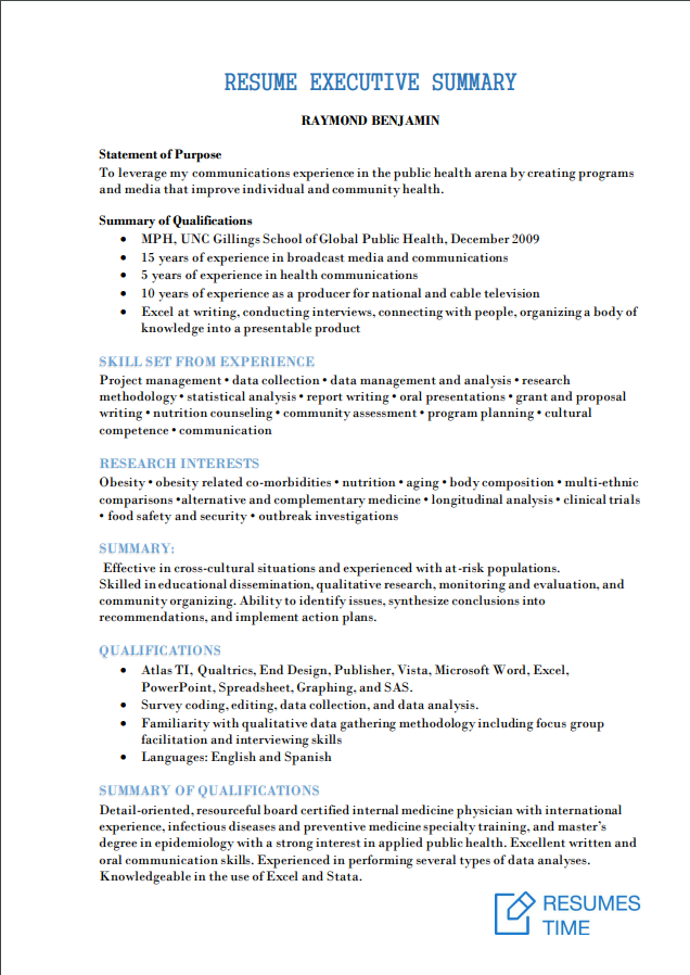 executive resume samples and examples to help you get a